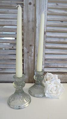 Kerzenständer Kerzenleuchter Stabkerzenständer 2er Set Glas 11 cm Baroque