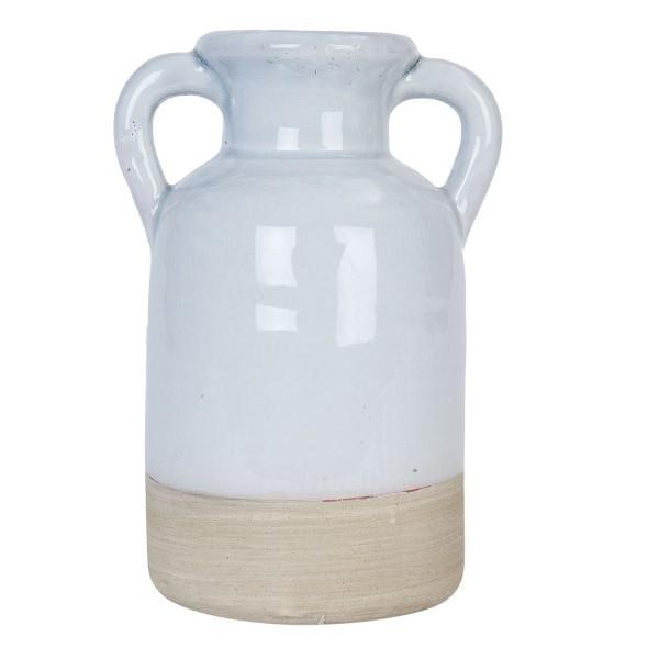 Vase Karaffe Krug Kanne shabby retro Clayre & Eef 12x11x18 cm 6TE0124M BLAU GRAU