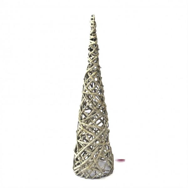 Dekobaum Weihnachten Rattan Natur Pusteblume 55 cm