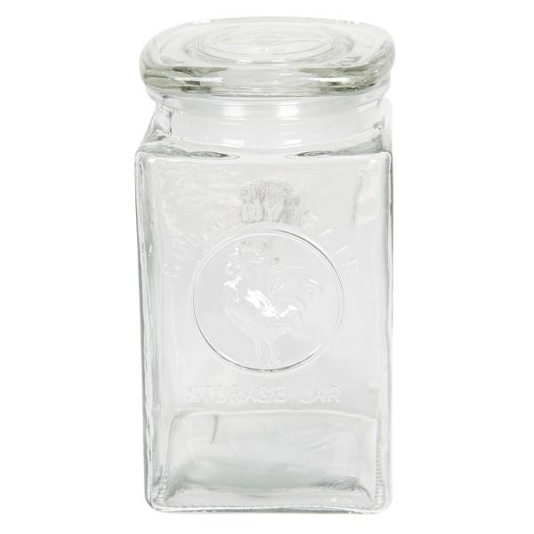 Vorratsglas mit Deckel Aufbewahrung Modern Glas Clayre & Eef 10 x 10 x 19 cm
