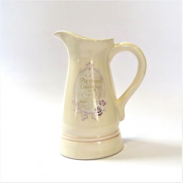 Kanne Krug Milchkanne Milchkrug Landhaus shabby 22 cm altrosa