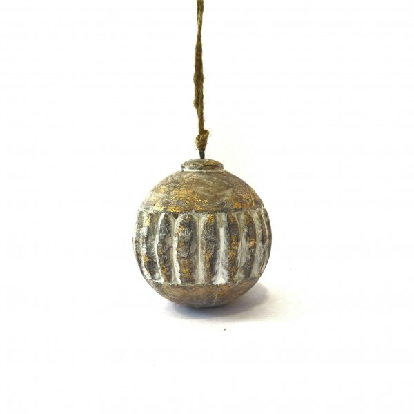 Weihnachtsbaumschmuck Holz Kugel Natur Gold Weihnachten Christbaumschmuck 10 cm