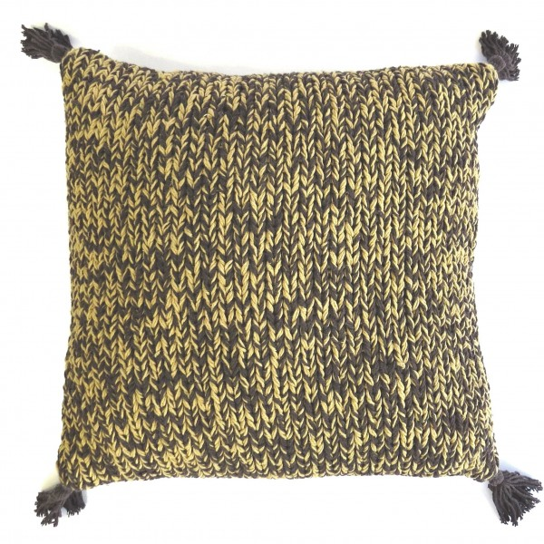 Kissen Sofa Deko Zier Handmade 45x45 cm Hippie Boho goround Braun Beige