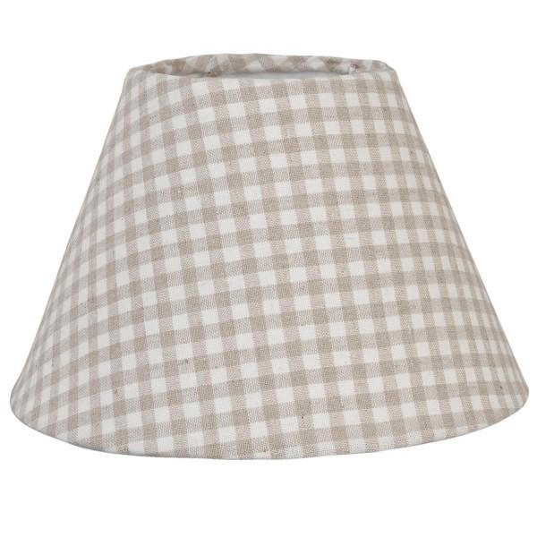 Lampenschirm Tisch Kariert Landhaus Clayre & Eef Beige 23 x 15 cm 6LAK005