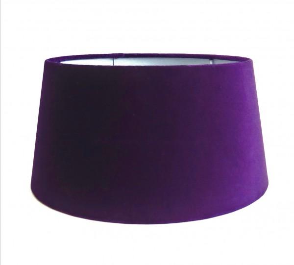 Lampenschirm Halbhoch Violett Lila Samt Modern Tisch Colmore E27