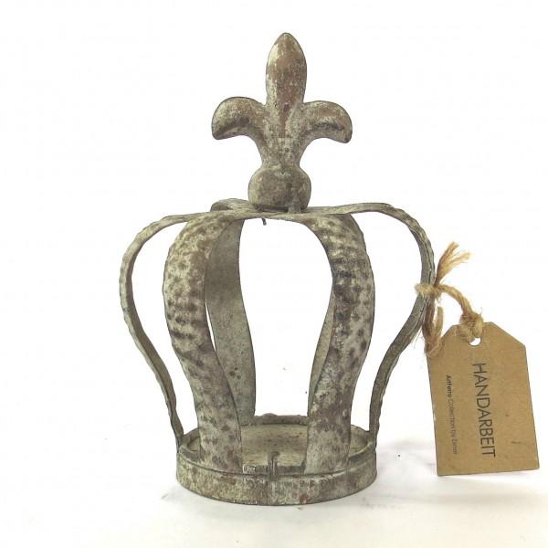 Deko Krone Metallkrone Shabby Gartendeko ArtFerro Ampel 17 cm Handarbeit