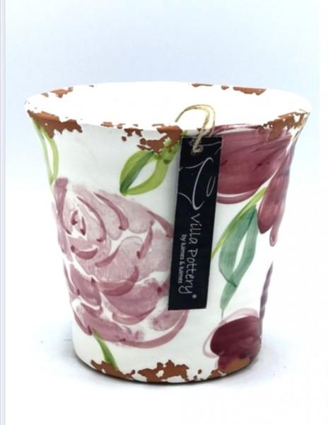 Übertopf Blumen Rosen Pink Shabby Antik Stil