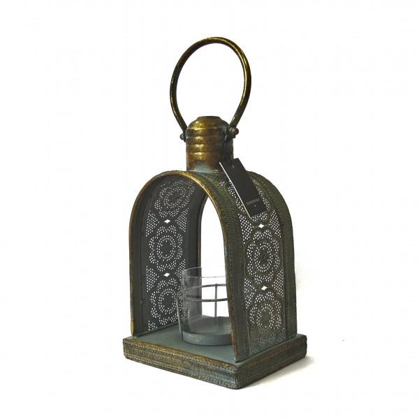 Laterne Windlicht Teelicht Antik Stil Gold Shabby Sommerfield 30 cm