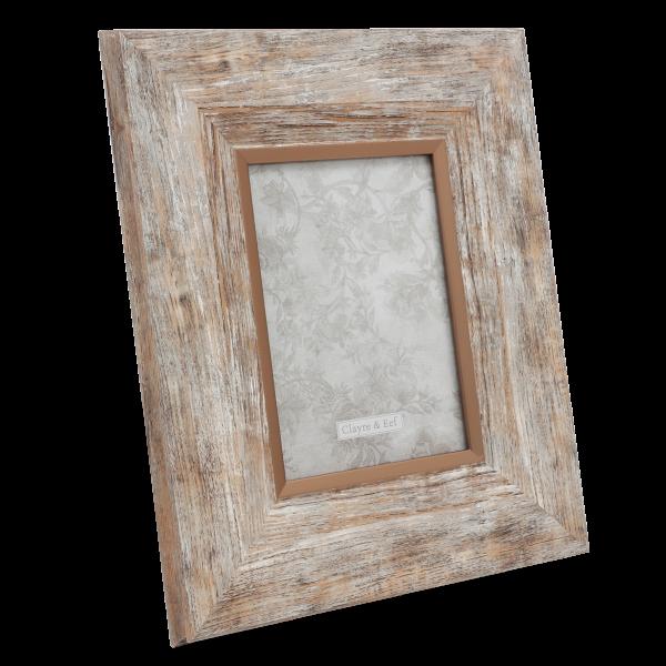 Bilderrahmen Holz Optik Kupfer Clayre & Eef 38 cm Standbilderrahmen Foto