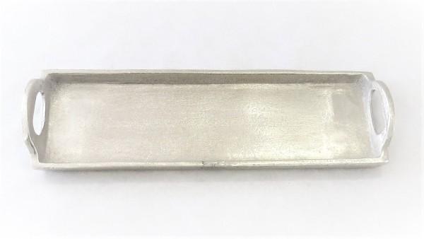 Tablett Dekotablett Kerzentablett Untersetzer Exner Metall Silber 35