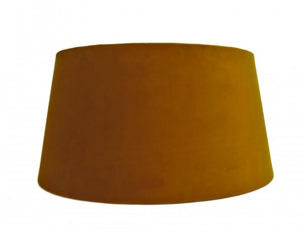 Lampenschirm Halbhoch Samt Stoff Amber Goldocker Colmore 30 cm E27