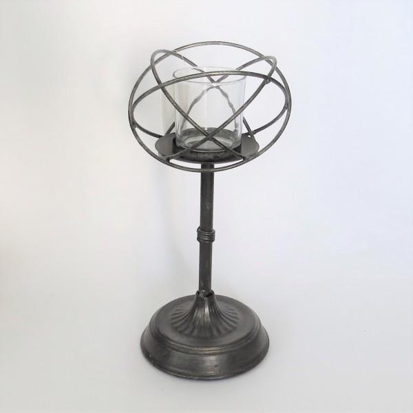Teelichthalter Windlichthalter Metall Industrie Stil Schwarz Massiv 35 cm