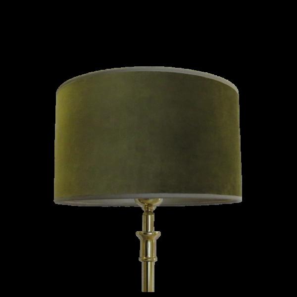 Lampenschirm Leuchtenschirm Grün Samt Zylinder Modern Moosgrün 25 x 25 x 15 cm E27