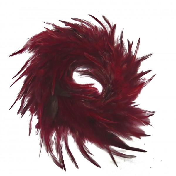 Federkranz Tür Deko Ostern Bordeauxrot Dunkelrot 20 cm Hänger
