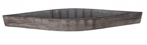 Topf Deko Pflanzgefäß Holz Natur Grau Shabby Stil Garten 78 cm