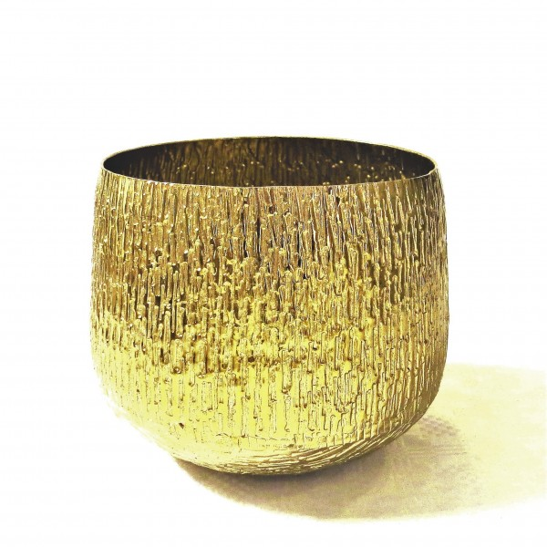Vase Colmore Alu Antik Gold Bronze 22 x 22 x 18 cm 001-18-2570-S-Bronze