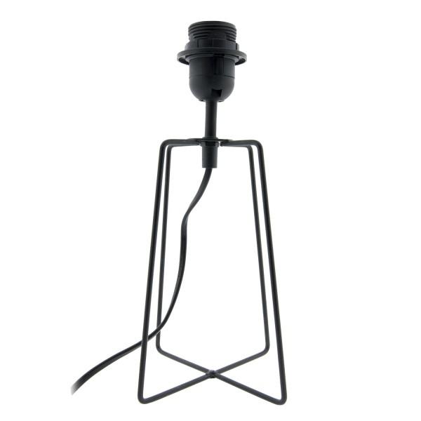 Lampenfuß Lampe schwarz Metall 15 x 15 x 29 cm E27 40Watt Clayre & Eef 6LMP580