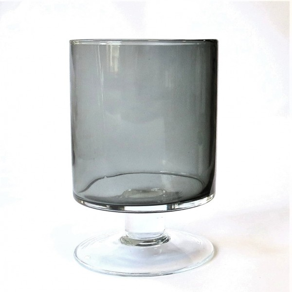 Windlicht Glas Gefäß Modern Grau Fidrio Glass Deko 23 x 15 cm