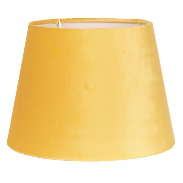 Lampenschirm Leuchtenschirm Gelb Samt Modern 25 x 18 cm Clayre & Eef E27