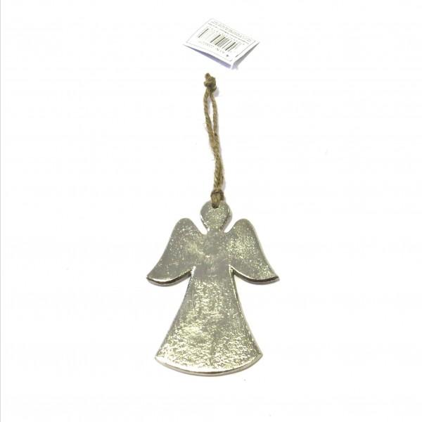 Engel Hänger Silber Metall Weihnachten Baumschmuck Fenster Deko 10 cm