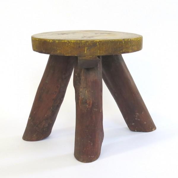 Hocker Holz Rustikal Kinder Shabby Fußhocker Beistell Braun Echtholz 25 cm