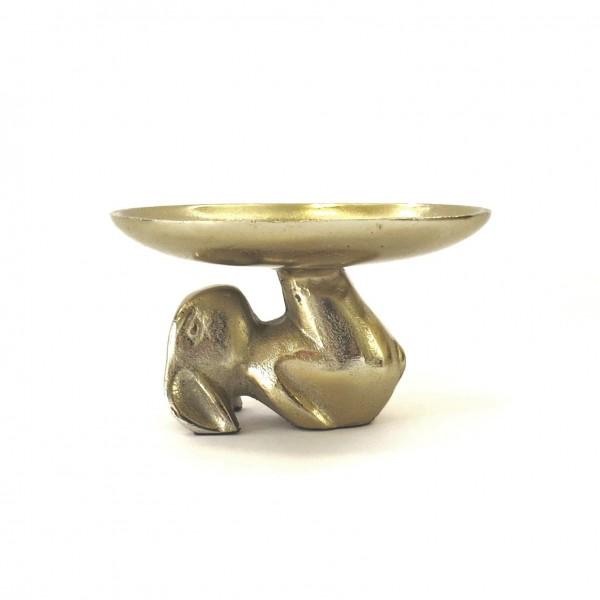 Schale Dekoschale Ostern Tisch Hase Gold Modern Metall Colmore 18 x 18 x 10 cm