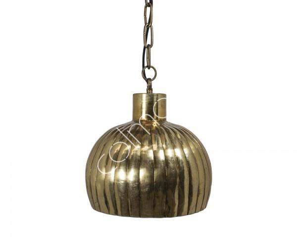 Lampe Deckenlampe Gold Metall Retro Colmore 31x31x32 cm