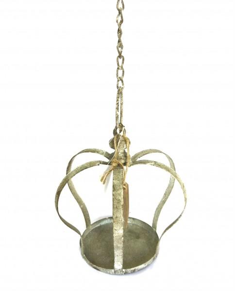 Deko Krone Hänger Blumen Garten Shabby Handmade Metall Exner GmbH 50 cm