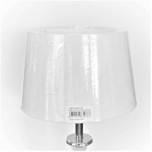 Lampenschirm Leuchtenschirm Leinen Weiß Rund Modern Stoff Colmore 35 cm