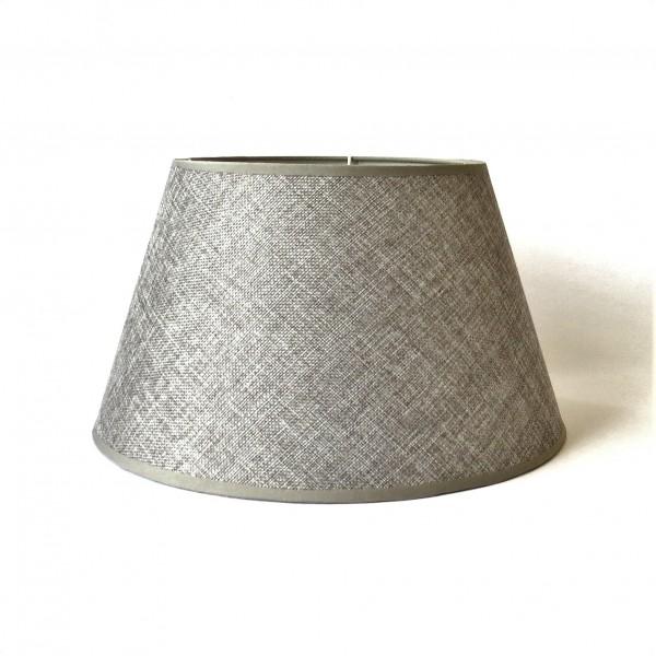 Lampenschirm Leuchtenschirm Grau Tisch Modern Struktur Lavandoux 18 x 32 cm