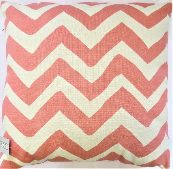 Kissen Deko Sommer Sofa Zierkissen Hippie pink 50*50 cm 100 % Baumwolle Reißverschluss