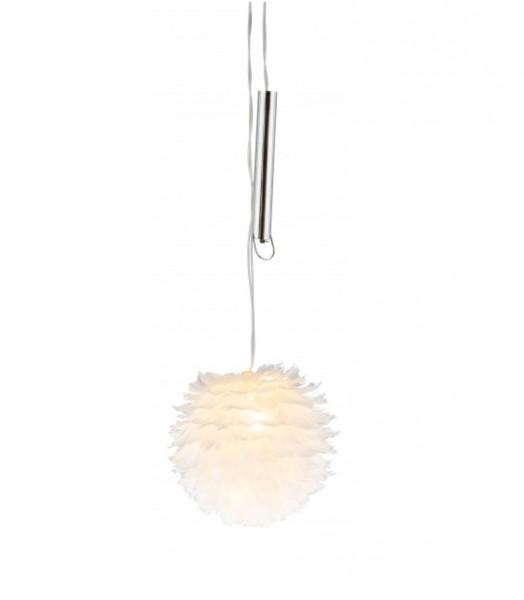 LED Kugel Federn Weiß Hänger Deko Ostern Fenster Kunstgewerbe Gehlmann 60 cm