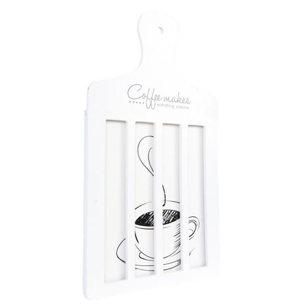 Kaffeekapselhalter Kaffeecupspender Kapselspender Kaffee Weiß Holz Landhaus Clayre & Eef 6H1256