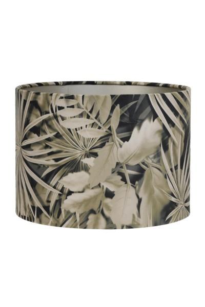 Lampenschirm Light & Living Tropisch Samt Rund Palmen Floral 20x20x15 E27