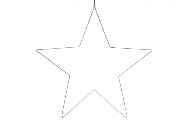 Stern Hänger Silber Modern Weihnachten Deko Natural Collektion 38 cm