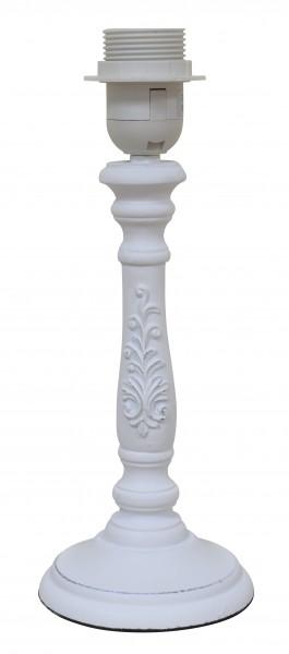 Lampe Lampenfuß Shabby Weiß Holz Landhaus E27 40W 11 x 28 cm