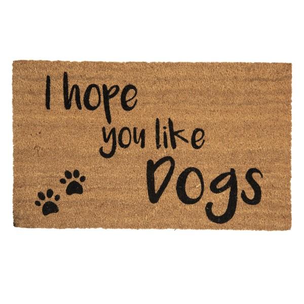 Fußmatte Türmatte Fußabstreifer Eingang Matte Hunde Dog Modern Clayre & Eef Braun