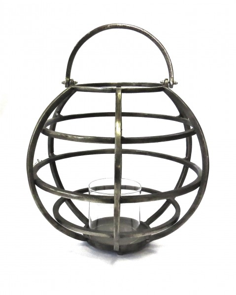 Laterne Windlicht Industrie Stil Modern Metall Rund Tila 40 x 49 cm