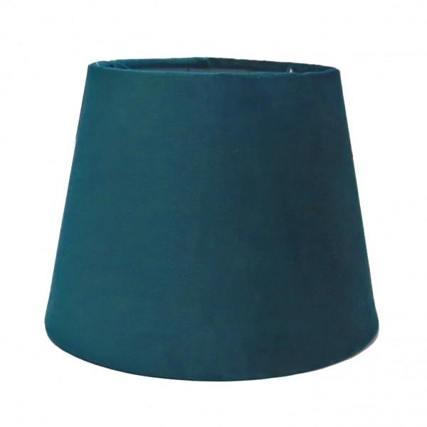 Lampenschirm Petrol Samt Clayre & Eef 20x15 cm E27 6LAK0458GR
