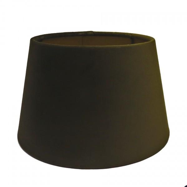 Lampenschirm Braun Tisch Samt Halbhoch Modern Stoff Colmore E27