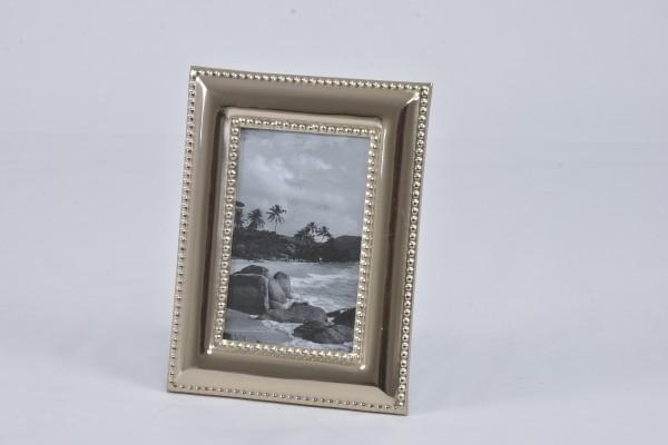 Fotorahmen Standbilderrahmen silber 18,5 x 24 cm Hazenkamp Metall Niete
