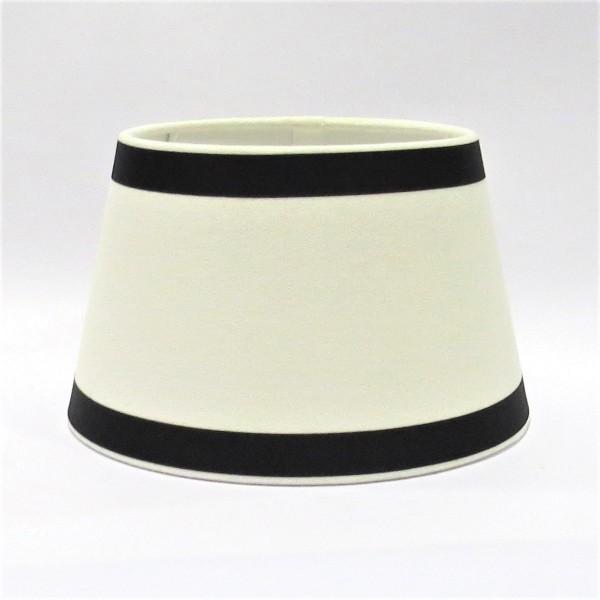 Lampenschirm Tisch Weiß Schwarz Modern Halbhoch Colmore E27