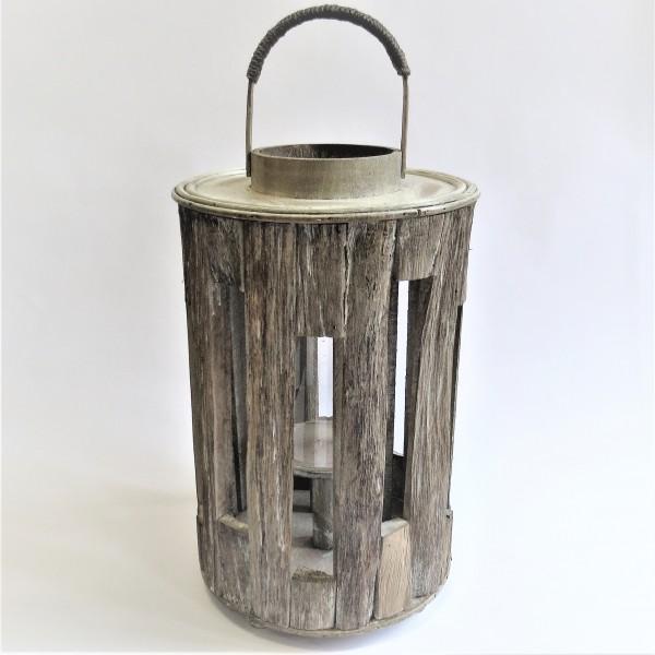 windlichthalter windlicht holz holzdeko glas hand made 42 x 24 cm wind teelichter. Black Bedroom Furniture Sets. Home Design Ideas