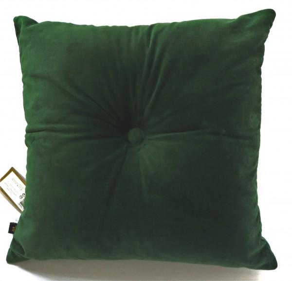 Kissen Grün Samt Zier Deko Sofa 45 x 45 cm Baumwolle