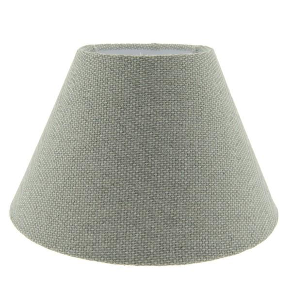 Lampenschirm Klassisch Landhaus Weiß Grau 25x16 cm Clayre & Eef 6LAK0446