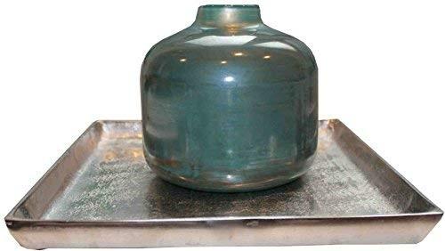Vase Tisch Deko Glas Modern Braun Blau Gold Colmore 21,5 cm