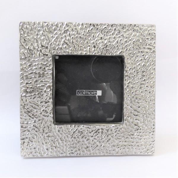 Bilderrahmen Fotorahmen Standbilderrahmen Nickel Glas 14 x 2 x 14 cm