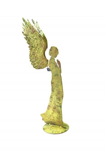 Engel Figur Skulptur Weihnachten Deko Metall Gold Antik bell arte 53 cm