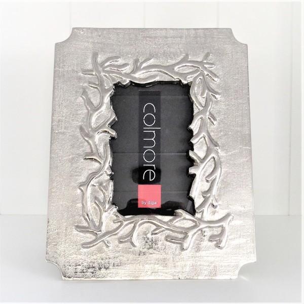 Bilderrahmen Fotorahmen Standbilderrahmen silber Metall Colmore 19,5 x 2 x 25 cm