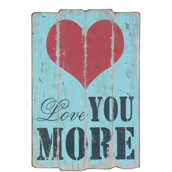 Text Schild Tafel Bord Wand Liebe Love Herz Vintage Clayre & Eef 60cm